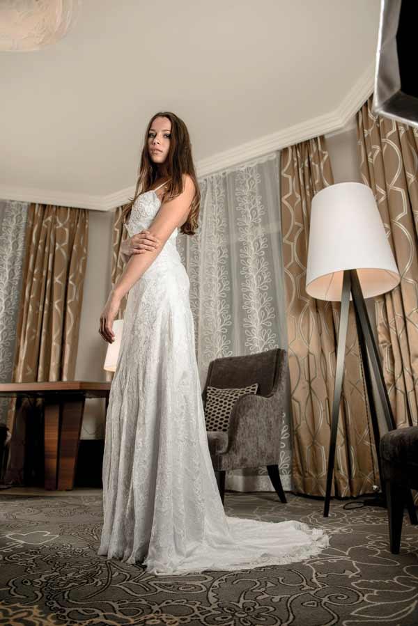 modern a-line gown